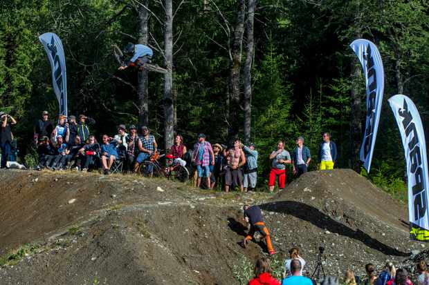 All the riders stepped up and put on a show in the whip-off. Photo: Andy Lloyd