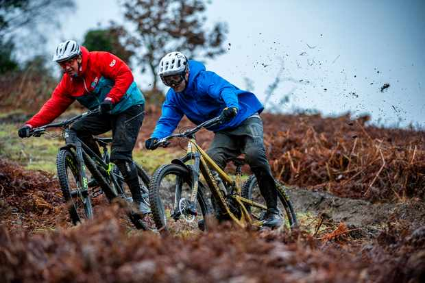Ed and Luje hit the trails to show you how much fun it can be riding in the mud thiswinter Photo: Andy Lloyd