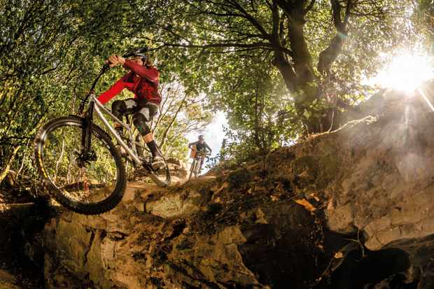We have a blast discovering you don't have to reach the mountians, to go mounain biking. Photo: Mick Kirkman