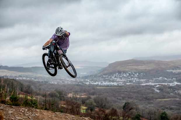Hip and tuck with Merthyr in the background. Photo: Andy Lloyd