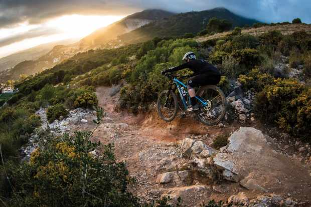 Staff Writer Luke gets to grips with the new Canyon Strive in Malaga. Photo: Boris Beyer