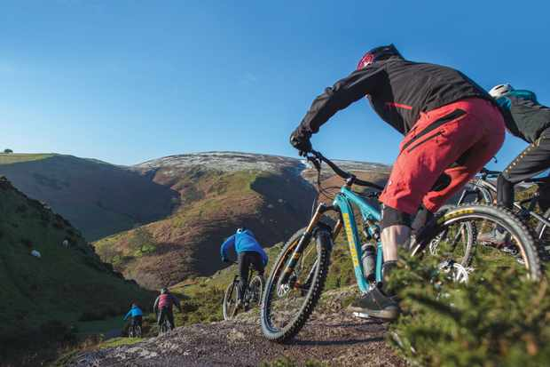 Find out what we thought of Long Mynd's natural and demanding trail riding. Photo: Tom Roberts