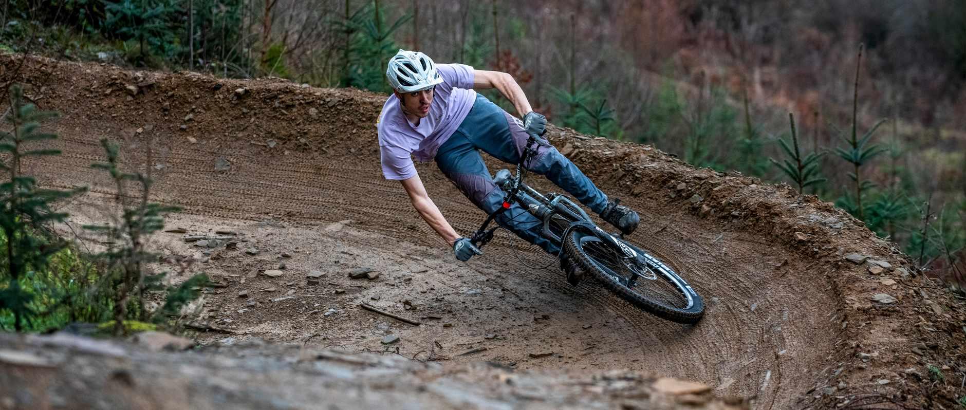 Leo Sandler at BikePark Wales. Photo: Andy Lloyd