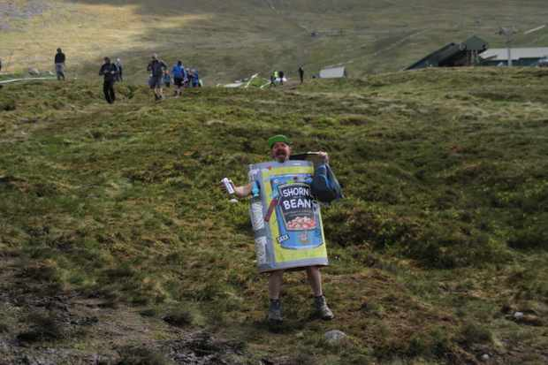 When you're walking down a mountain, make sure to wear appropriate clothing and stay hydrated. Photo: James Blackwell