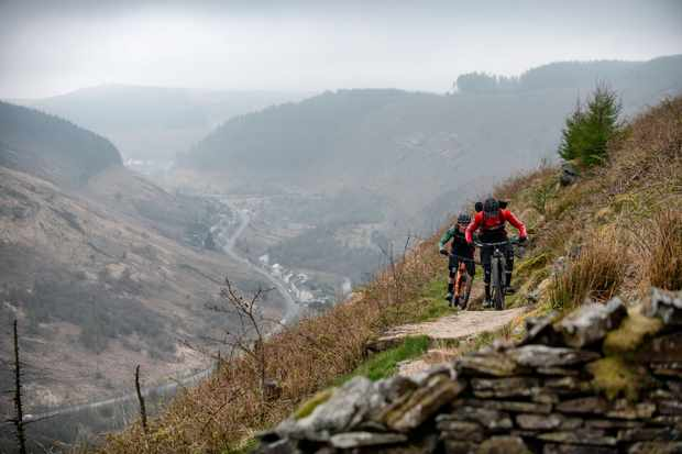 Ed and Scott challenge themselves to plot a route between three of Wales premior riding destinations,so they can tackle them all in one day. Photo: Andy Lloyd