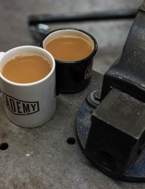 Tea (and copious amounts of it) an essential for successful bike building. Photo: Ben Ripley