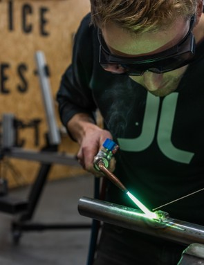 Adding cable guides with capillary brazing. Photo: Ben Ripley